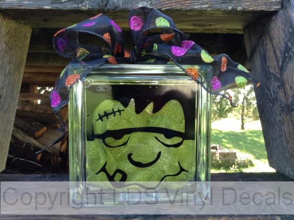 Frankenstein Fall And Halloween Vinyl For Glass Blocks LDS - Halloween vinyl decals for glass blocks
