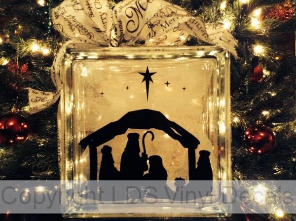 Christmas Vinyl For Glass Blocks Lds Enrichment Nights Super