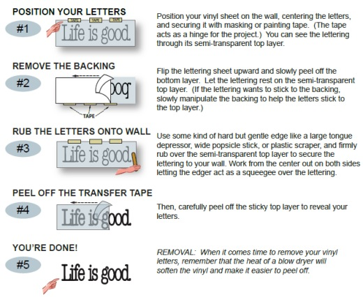 Application Instructions LDS Vinyl Wall Lettering And Words - Installing vinyl decals