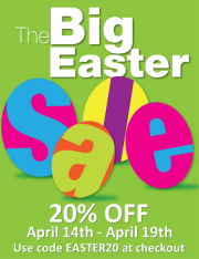 Easter Sale - Save 20% OFF