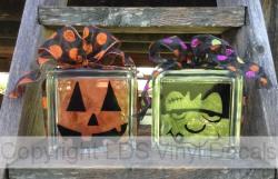 Fall And Halloween Vinyl For Glass Blocks LDS Enrichment Nights - Halloween vinyl decals for glass blocks