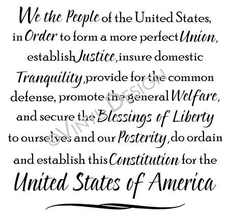 We The People Preamble To The United States