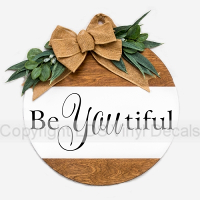 Be You tiful - Beauty Vinyl Wall Art - LDS Wall Sayings, Words and ...