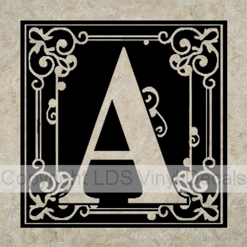 Monogram Vinyl For 12x12 Tiles Name Lettering And Decals