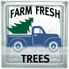 FARM FRESH TREES Vintage Truck (Multi-Color) - Click Image to Close