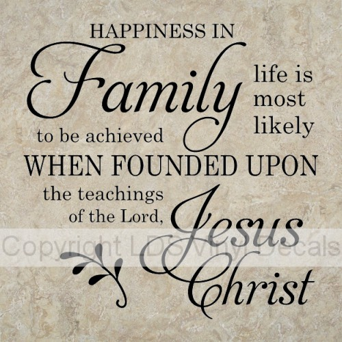 HAPPINESS IN Family life is most likely to be achieved
