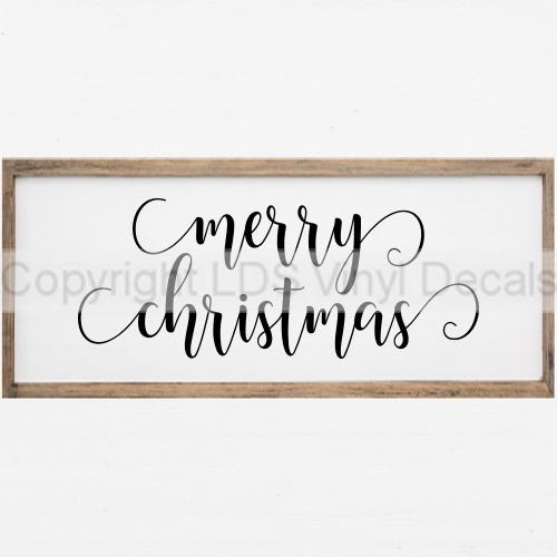 Christmas Vinyl Decals.Merry Christmas Christmas Vinyl Wall Art Words And