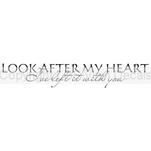 LOOK AFTER MY HEART I\'ve left it with you (Twilight) - Love Vinyl ...