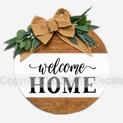 Welcome Home Home Vinyl Wall Art Quotes Words And Sayings For